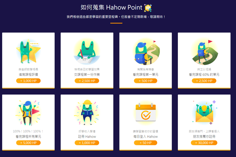 Hahow Point 收集方法