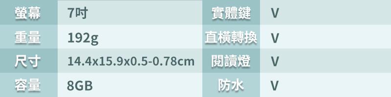 Kobo Libra H2O 7吋資訊